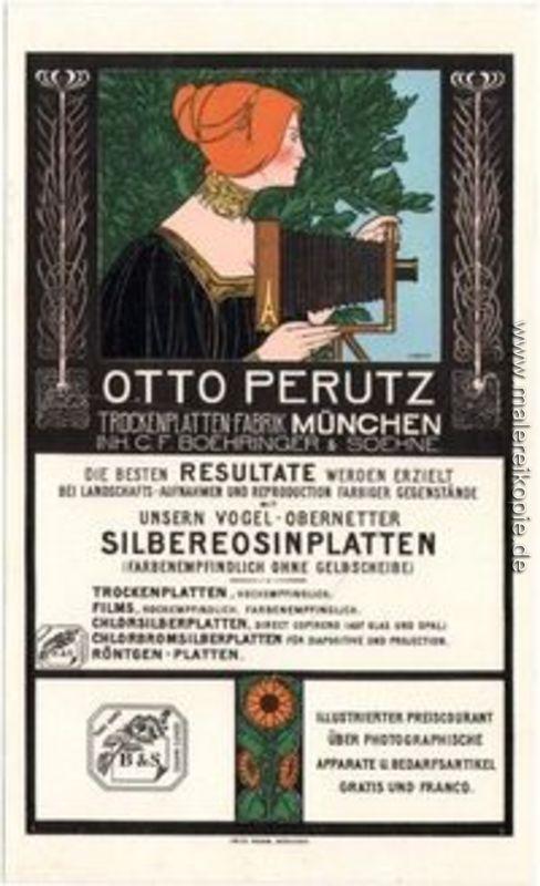 Otto Perutz Lithografie Werbekarte di Fritz Rehm von Fritz Rehm ...