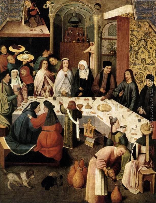 Die Hochzeit Zu Kana Di Hieronymus Bosch Von Hieronymus Bosch