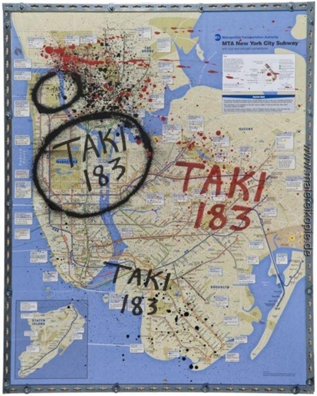 U Bahn Karte New York.New York City U Bahn Karte Di Taki 183 Von Taki 183 ölgemälde
